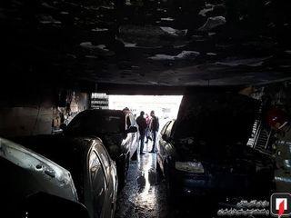 آتش گرفتن سه خودرو در تعمیرگاه