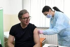 تزریق واکسن چینی کرونا به رئیس جمهوری صربستان