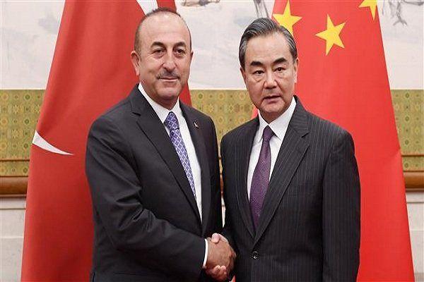 دیدار و گفتگوی وزرای خارجه چین و ترکیه