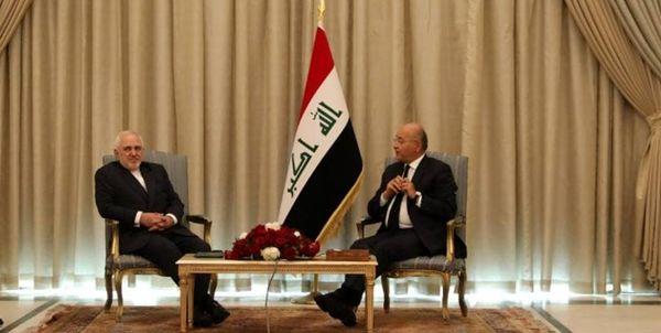 گزارش توئیتری ظریف از سفرش به بغداد