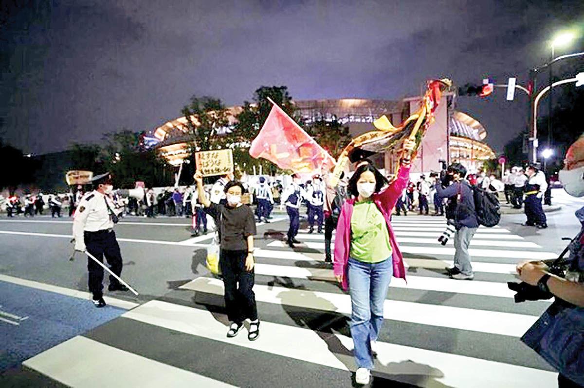 اعتراض هنرمندان  به برگزاری المپیک توکیو