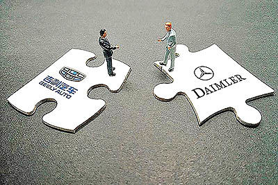 همکاری دایملر و جیلی در موتورهای هیبریدی