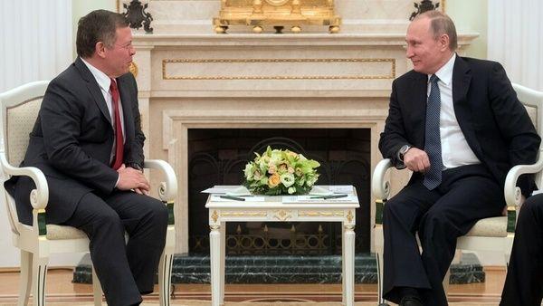 پوتین با پادشاه اردن دیدار میکند
