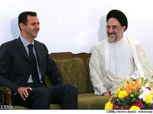 ادعای عجیب یک رسانه داخلی در مورد دیدار خاتمی و بشار اسد!