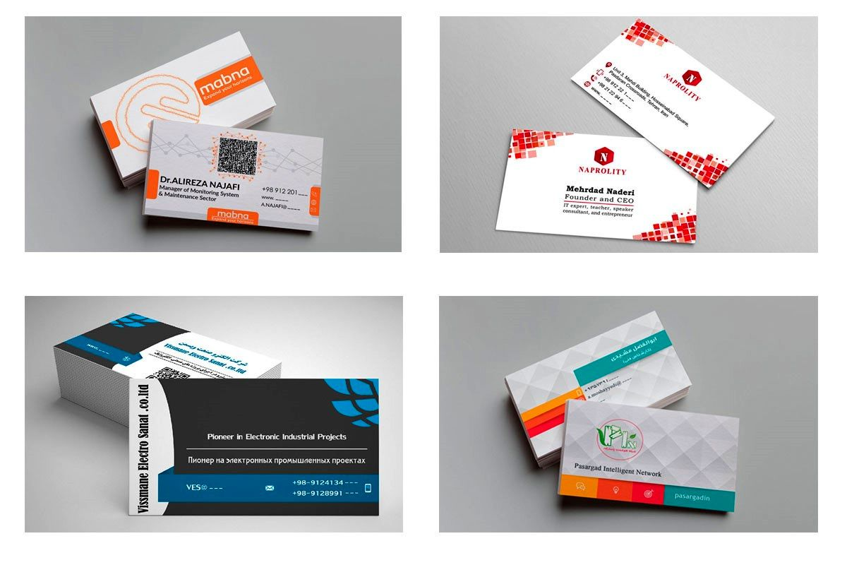 قیمت، طراحی و چاپ کارت ویزیت + نمونه خاص
