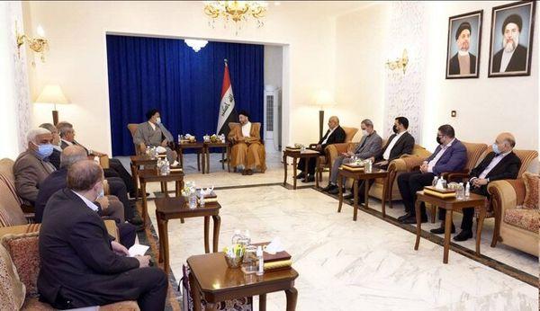 دیدار وزیر اطلاعات ایران با حکیم