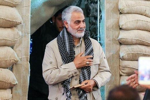 تصویری خاص از سردار سلیمانی در سیل خوزستان