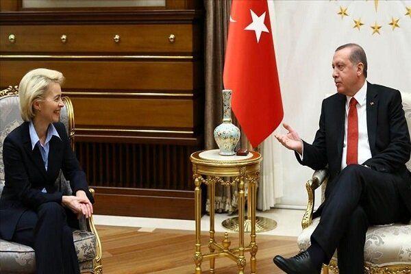 رایزنی اردوغان و رئیس کمیسیون اتحادیه اروپا