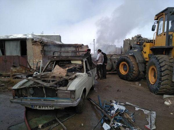 انفجار کپسول گاز مایع در بیجار