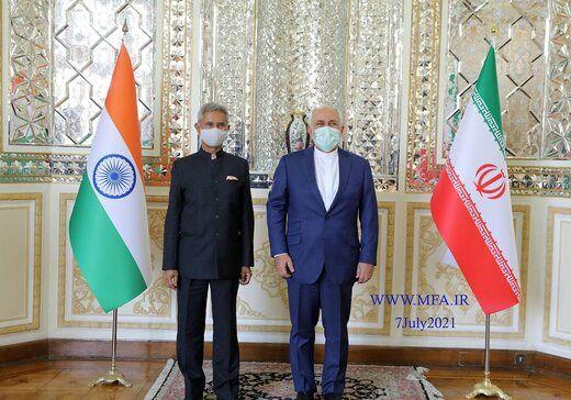 وزیر خارجه هند با ظریف دیدار کرد/عکس