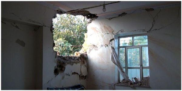 اصابت یک راکت جنگی دیگر به واحد مسکونی در خداآفرین