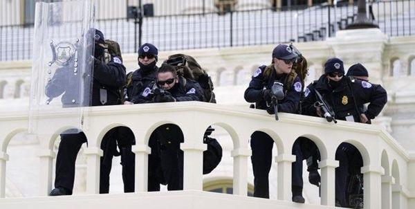 ابتلای دهها پلیس ساختمان کنگره آمریکا به کرونا