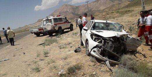 تصادف وحشتناک پژو۲۰۶ منجر به مرگ 5 نفر شد