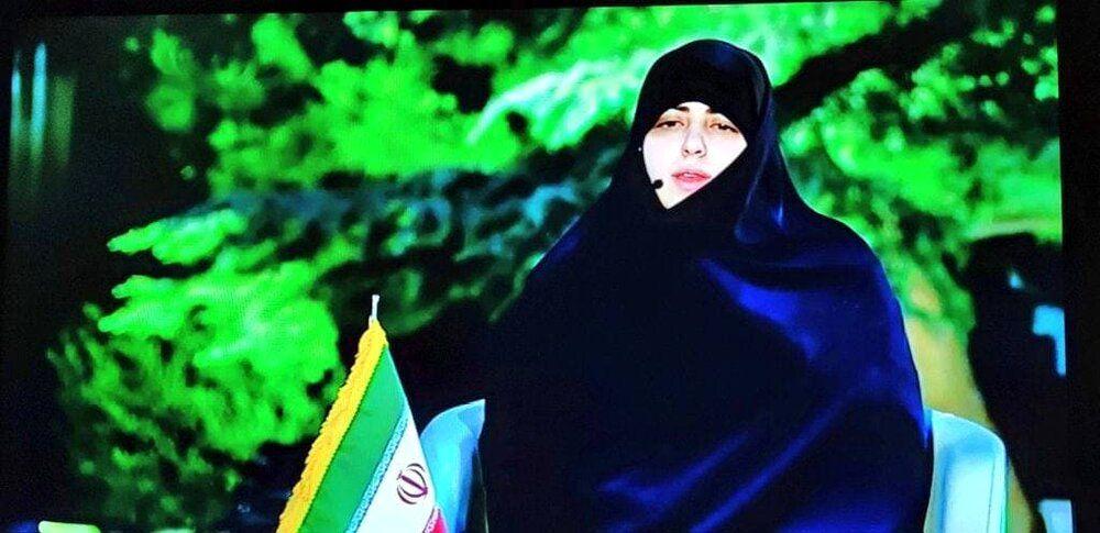 تصویری از دختر ابراهیم رئیسی در تلویزیون /پدرم بین زن و مرد دیوار نمی کشد