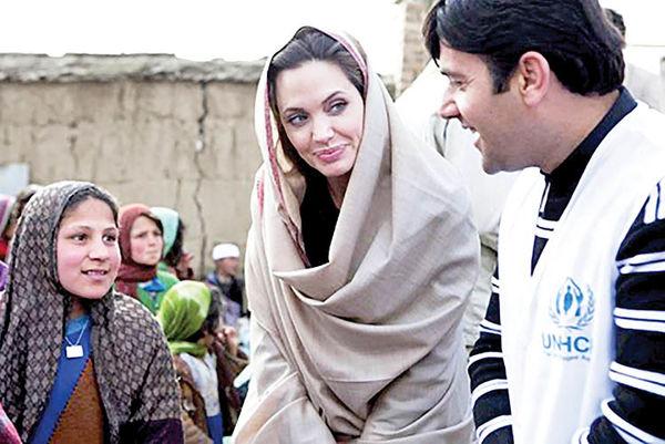 حمایت آنجلینا جولی از زنان افغان