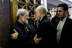 علی اکبر صالحی رییس سازمان انرژی اتمی در مراسم ختم دختر عباس سلیمی نمین