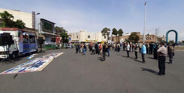 انزجار مردم استان تهران از استکبار جهانی در روز قدس