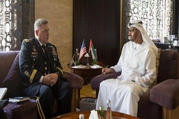 دیدار رئیس ستاد مشترک ارتش آمریکا با ولیعهد ابوظبی