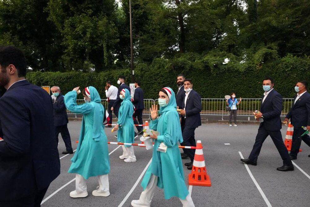 پشت صحنه رژه کاروان ایران در المپیک /عکس