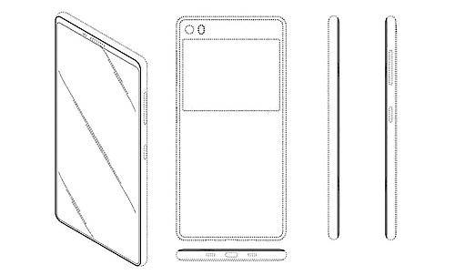 پتنت سامسونگ یک گوشی بدون حاشیه با دو صفحهنمایش را نشان میدهد
