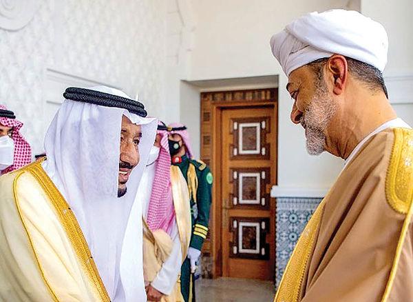 سلطان عمان مهمان پادشاه عربستان
