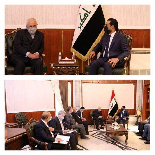 دیدار ظریف با رئیس مجلس عراق