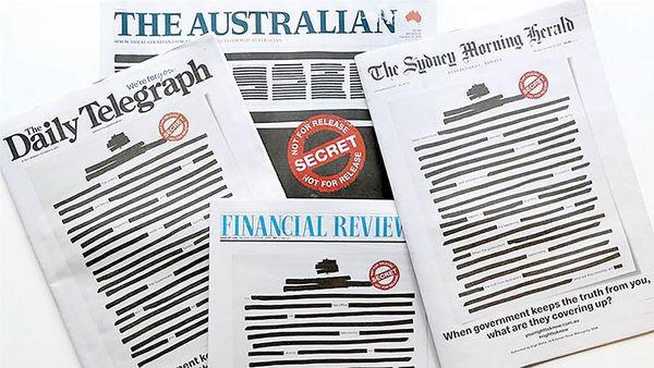 روزنامههای استرالیا سیاه منتشر شدند