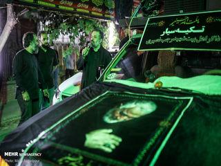 تکیه سیار محمود کریمی در شب نخست محرم