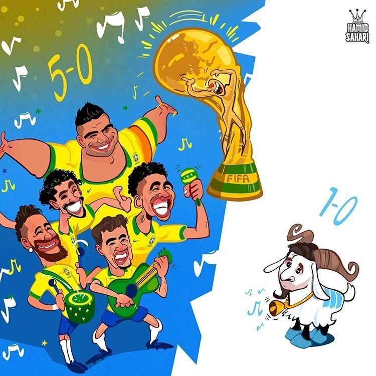 قدرت نمایی متفاوت برزیل و آرژانتین را ببینید!