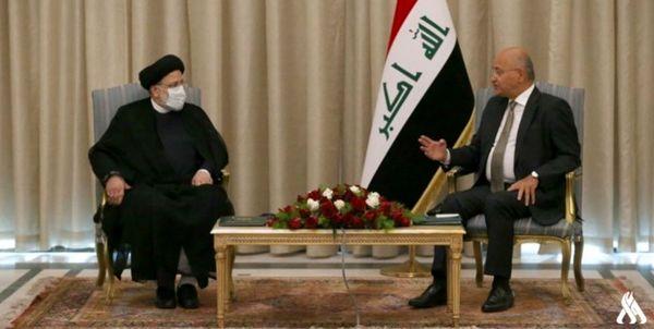 رئیسی با رئیسجمهور عراق دیدار کرد