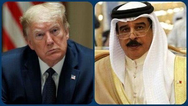 """ترامپ به پادشاه بحرین نشان """"شایستگی"""" اعطا کرد"""
