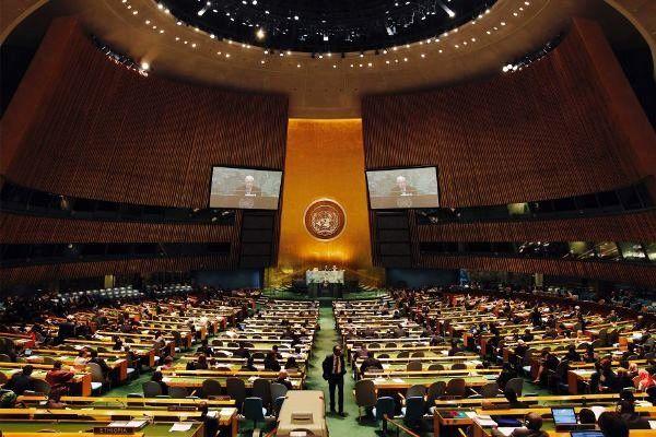 تصویب یک قطعنامه در حمایت از فلسطین مجمع عمومی سازمان ملل