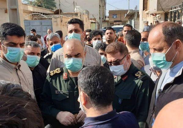 فرمانده سپاه خطاب به مردم خوزستان: تمام وجودمان را می دهیم تا مشکلات مردم حل شود