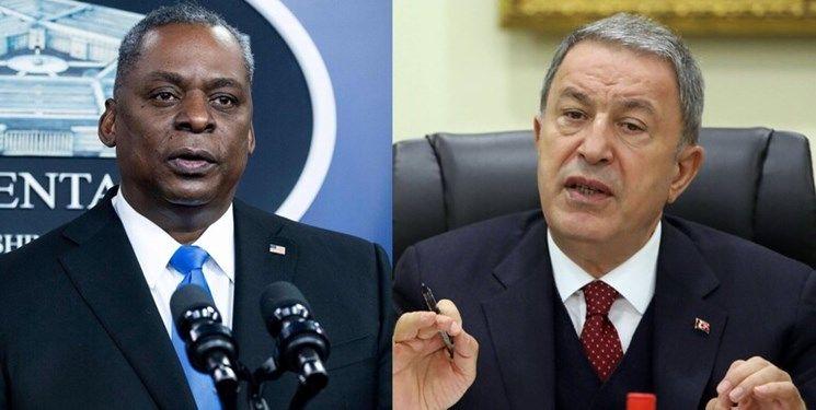 گفتوگوی تلفنی وزرای دفاع ترکیه و آمریکا