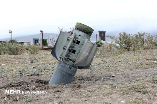 اصابت یک موشک جنگ قرهباغ به 120 کیلومتری تبریز