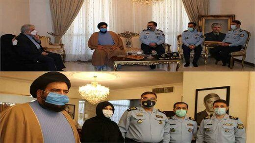 دیدار فرمانده نیروی هوایی ارتش با خانواده دو شهید