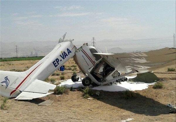 سقوط هواپیمای آموزشی در اراک/ دو نفر جان باختند