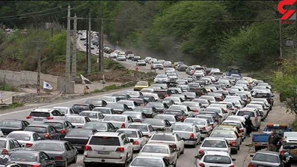 ترافیک سنگین در آزادراه تهران- کرج