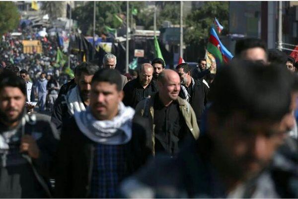 عکسی که قالیباف از پیاده روی اربعین منتشر کرد
