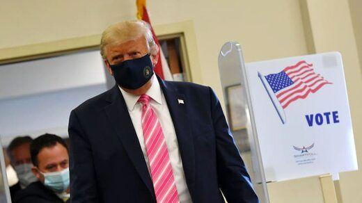 ترامپ هنگام رای دادن: به کسی که اسمش ترامپ است،رای دادم