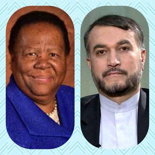 جزئیات گفتگوی تلفنی امیرعبداللهیان با وزیر خارجه آفریقای جنوبی