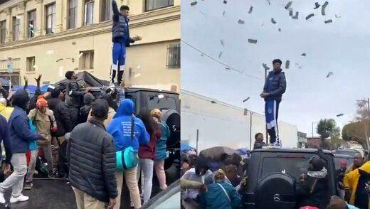 پولپاشی رپر سرشناس در محله فقیرنشین