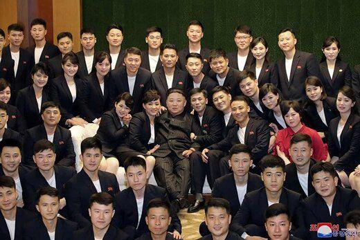 تصاویری جدید از رهبر کره شمالی با چهرهای تازه و بدون ماسک