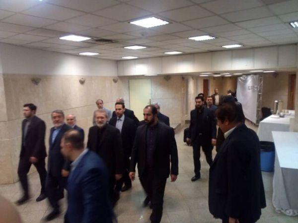 ببینید| بازدید علی لاریجانی از ستاد انتخابات کشور