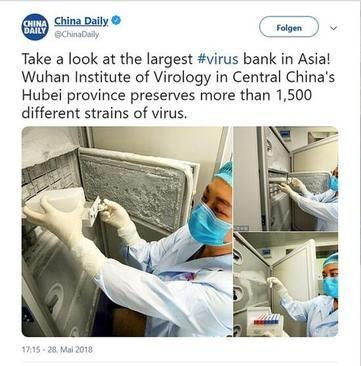 عکسی که پیشتر موسسه ویروس شناسی ووهان به خاطر بازتاب گسترده جهانی از سایت خود حذف کرده بود. این یخچال کهنه محل نگهداری ویروس های خطرناک در این آزمایشگاه بوده است.