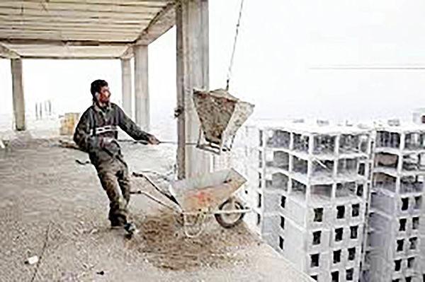 بیکاری 70 درصد کارگران ساختمانی