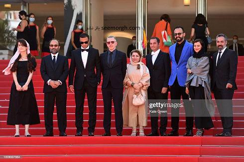عوامل فیلم قهرمان روی فرش قرمز جشنواره کن 2021
