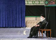 مراسم عزاداری شب عاشورا با حضور رهبر معظم انقلاب  اسلامی برگزار شد