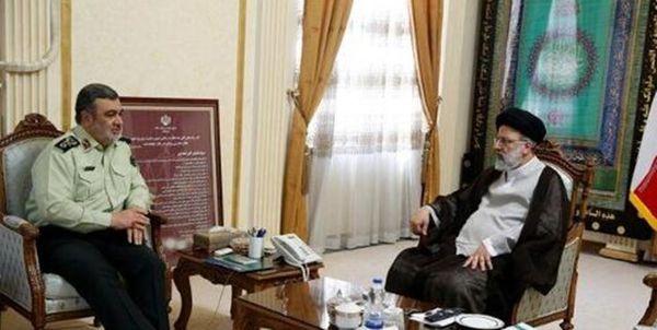 پیام تبریک فرمانده ناجا به ابراهیم رئیسی