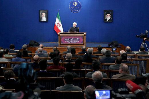 روحانی: نه آمریکا رهبر دنیاست نه یکجانبه گرایی پیروز می شود/استفاده از ماده ۳۶ برجام به نفع کسی نیست/اگر به اعتراضات مردم گوش نکنیم، گوش ما ایراد دارد/ رویکرد سپاه را ستایش میکنم